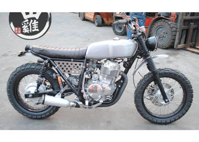 Réservoir de carburant style rétro racing avec accessoires - type 1