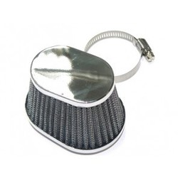 Oval Chrome Air Pod Filter