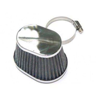 Filtre à air ovale chromé