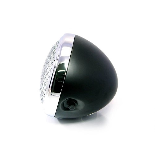 "7 "" Scrambler Koplamp Black & Chrome Extra Groot"