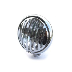"5.75"" Grid Chrome Headlight with Bottom Mount"