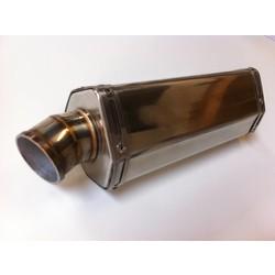 "GP Muffler Short ""Hexa"" Stainless Steel 51mm"