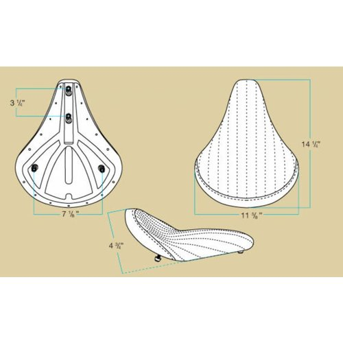 Biltwell Solo 2 Diamond Stitch Bobber Seat