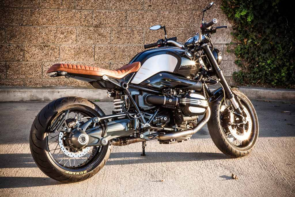 Flat Out Enzo (R NineT) Brown - CafeRacerWebshop com