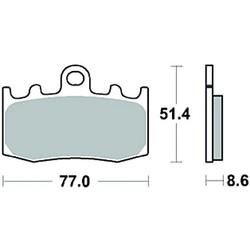 Paire de plaquettes de frein MCB748SV