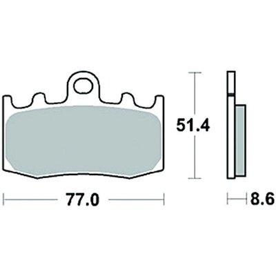 TRW Paire de plaquettes de frein MCB748SV
