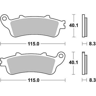 TRW Bremsbelagsatz MCB705SH