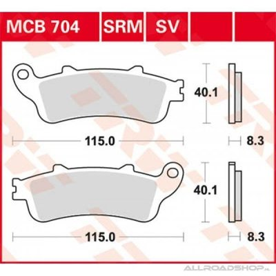 TRW Brake Pad Set MCB704SV