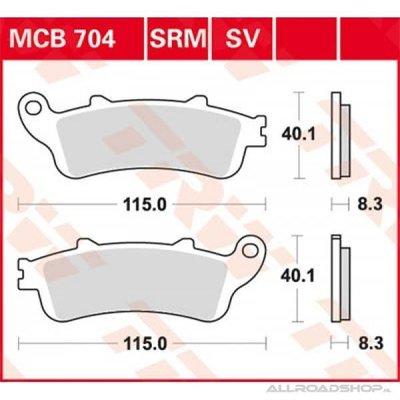 TRW Paire de plaquettes de frein MCB704SV