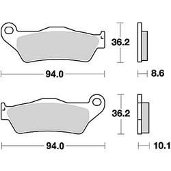 Paire de plaquettes de frein MCB707SH