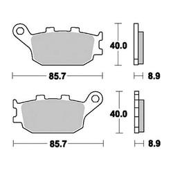 Paire de plaquettes de frein MCB634SH