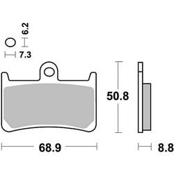 Paire de plaquettes de frein MCB680SV