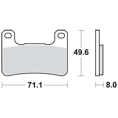 TRW Brake Pad Set MCB752SV