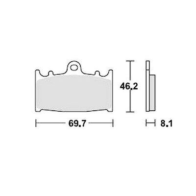 TRW Paire de plaquettes de frein MCB602SV