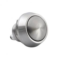 Mini interrupteur en aluminium - Momentané - M12 - Acier inoxydable