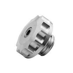 Engine Oil Filler Cap - Billet - Silver
