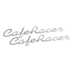 Cafe Racer - Benzintank / Seitenwand Emblem Set - Poliert - Paar