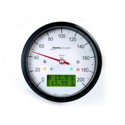 Indicateur de vitesse Motoscope Classic - anodisé en noir