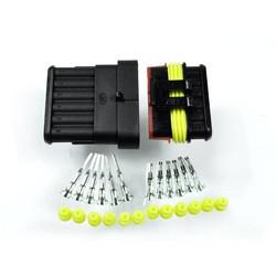 Steckverbinder Supersealed AMP-Style 6-Polig Komplett