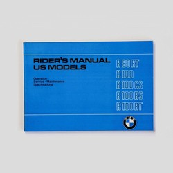 Rider's handbook R80/7 R100T R100RT R100S R100RS 9/78-9/80 english, in englischer Sprache
