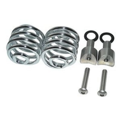 "Spiral Springs Chrome 2"" with Mounting"