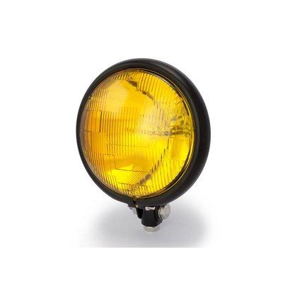 "5,75"" Yellow Bates Style Headlight Bottom Mount Black"