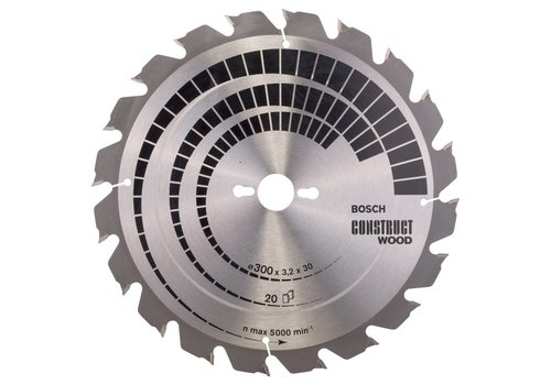 Bosch Cirkelzaagblad Construct Wood - 300x30x3,2 20T