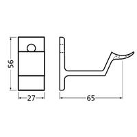 Leuninghouder stokschroef M8 - Rond nieuw zilver