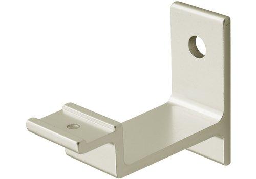 Hermeta Leuninghouder stokschroef M8 - nieuw zilver