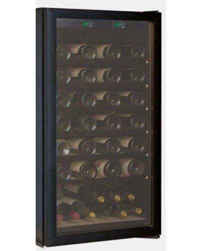 Cave Tastvin Glazen deur zwart voor T75 of T60