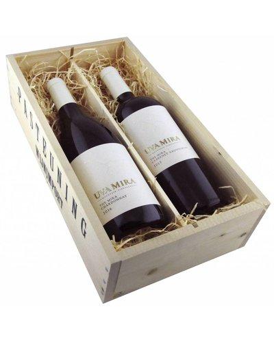 Relatiegeschenken Kistje The Uva Mira Chardonnay/Cabernet Sauvignon