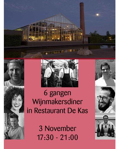 Pasteuning Wijnmakers Diner in Restaurant De Kas