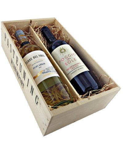 Relatiegeschenken Kistje Italië - Pinot Grigio & Negroamaro