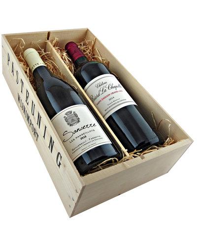 Relatiegeschenken Kistje Frankrijk - Sancerre & Saint Emilion