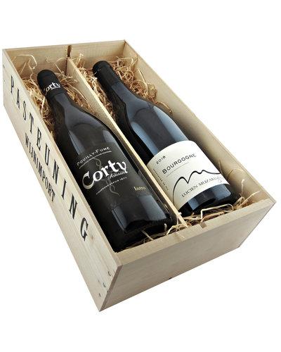 Relatiegeschenken Kistje Frankrijk - Pouilly Fumé & Bourgogne