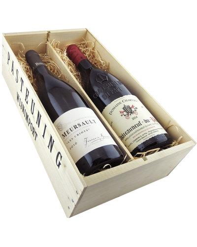 Relatiegeschenken Kistje Frankrijk - Topwijnen uit Bourgogne & Rhône