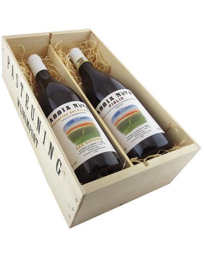 Relatiegeschenken Kistje Italië - Vin Naturel van Abbia Nòva - Lazio