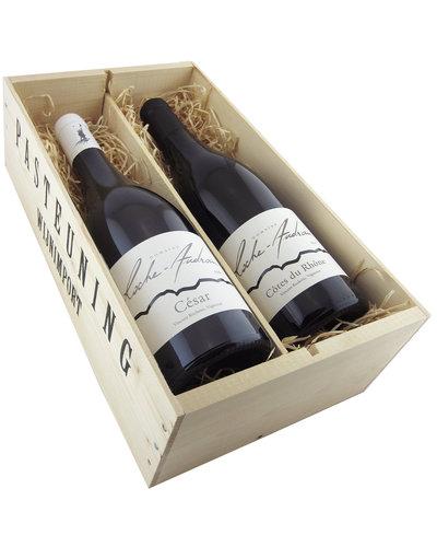 Relatiegeschenken Kistje Frankrijk - De Rhône wijnen van Roche Audran
