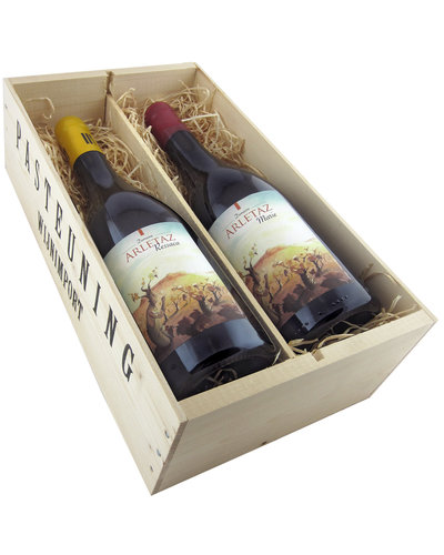 Relatiegeschenken Kistje Frankrijk - Vin Naturel Arletaz prestige