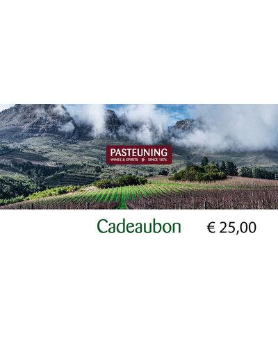 Pasteuning Cadeaubon 25 euro