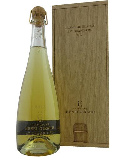 Henri Giraud Blanc de Blancs 2012 Aÿ Grand Cru in orginele houten kist