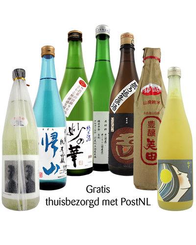 Pasteuning Proefpakket online proeverij 4 SAKE - hele flessen