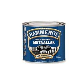 Hammerite Hamerslag Hoogglans Zwart S060 250 ml
