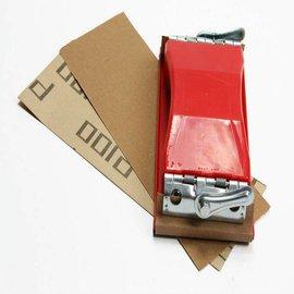 Handschleifblock mit Schleifpapier P100