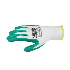 Private Label Work gloves Extra Grip Green