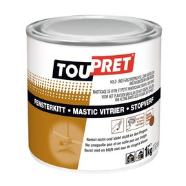Toupret Spachtelmasse Mastic 1 kg Teak / Braun