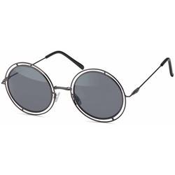 Ronde Zwarte Hipster Zonnebril
