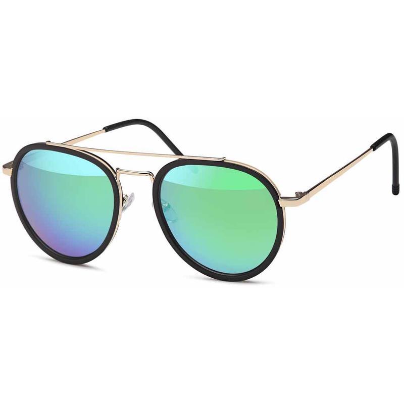 Groene Piloten Zonnebril