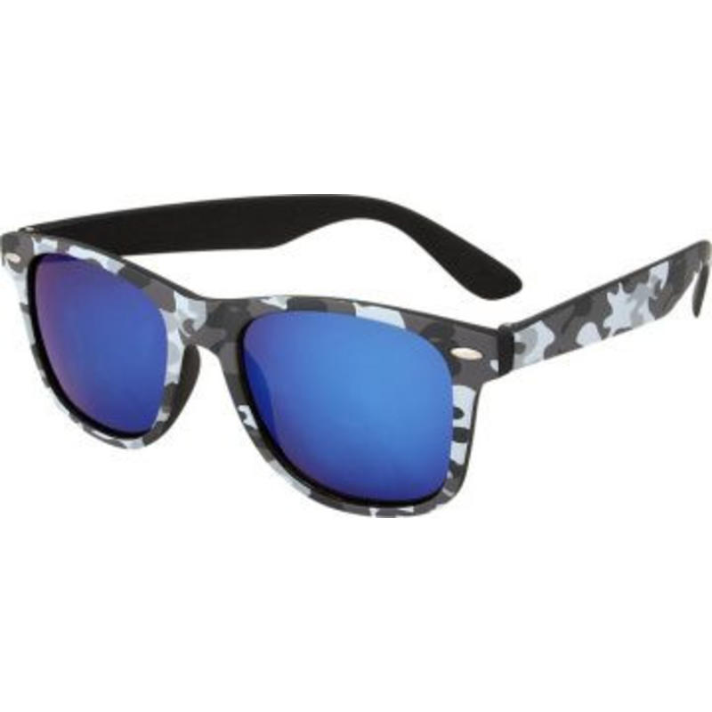 Camouflage Wayfarer Zonnebril Blauw
