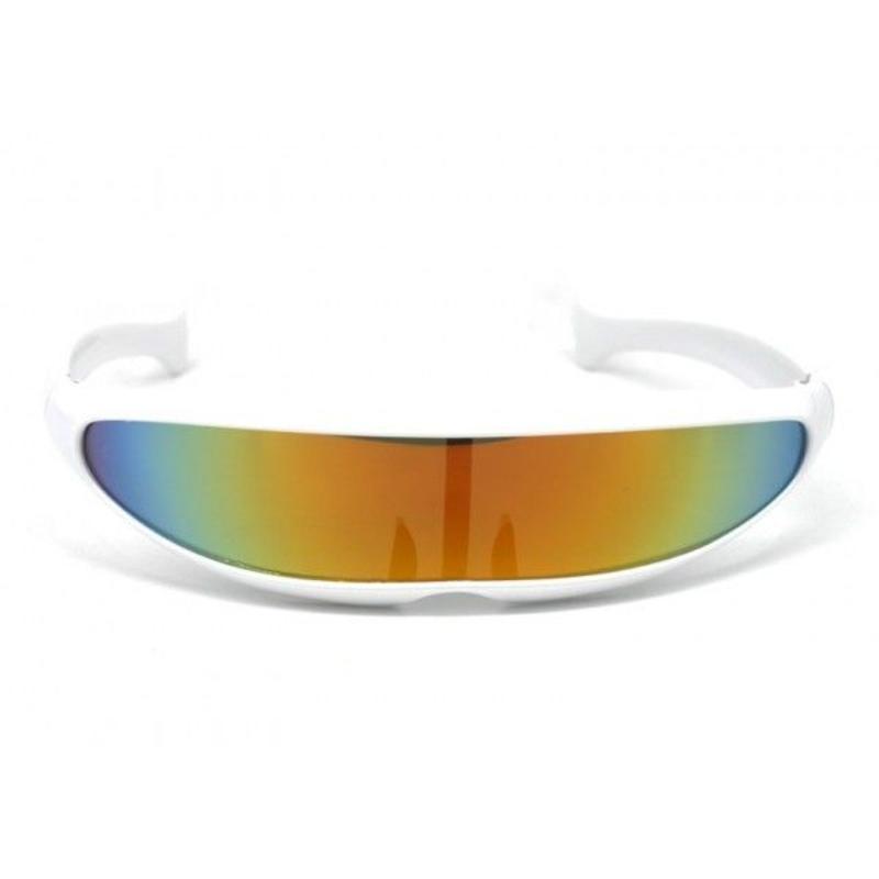 Snelle Planga Zonnebril Wit Rainbow